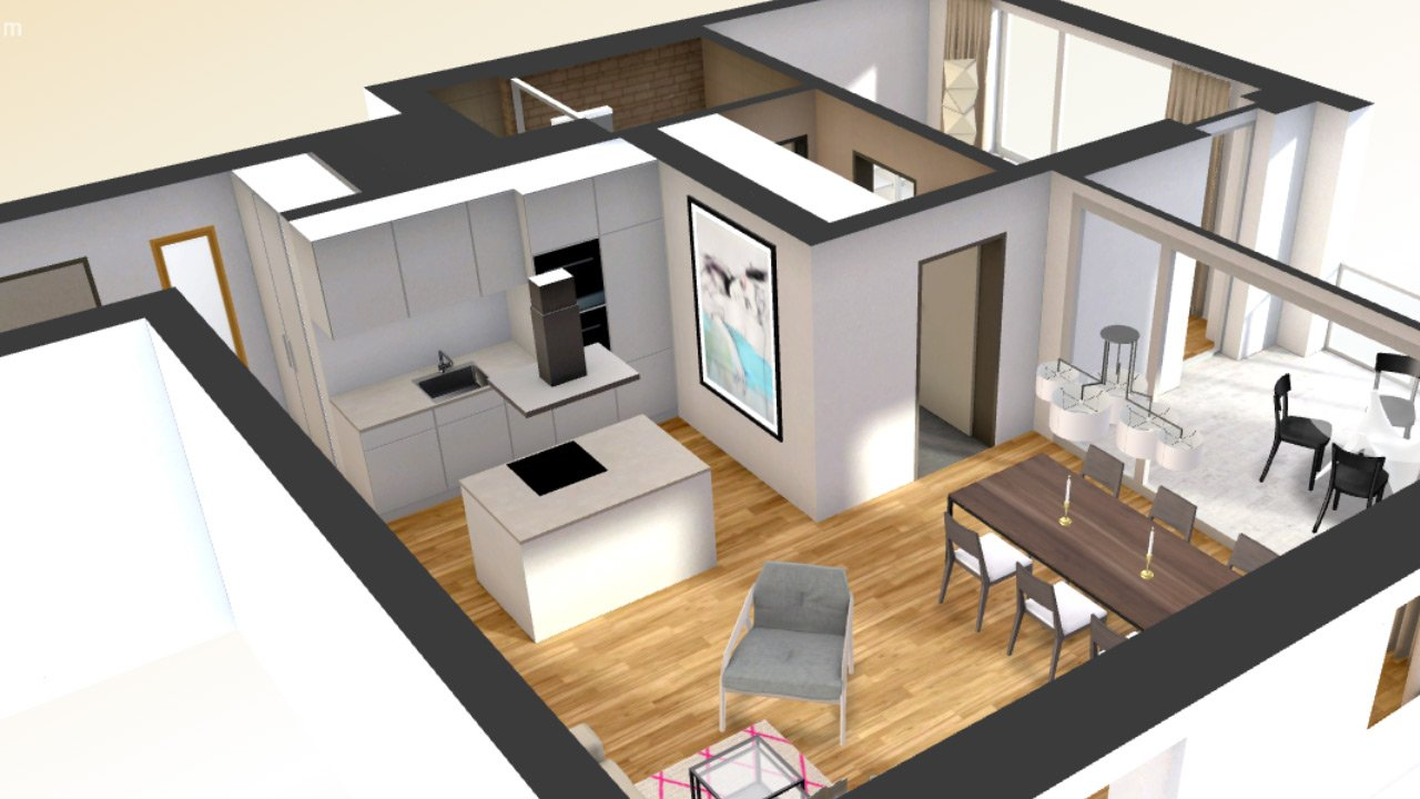 3d interactive floor plan add on with virtual furnishing sketchplan turning sketches into. Black Bedroom Furniture Sets. Home Design Ideas